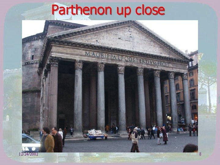 Parthenon up close 12/24/2002 8