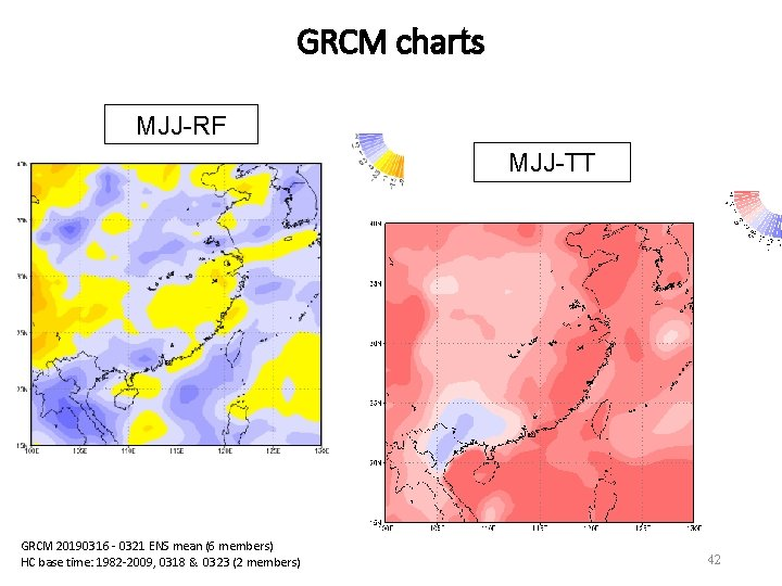 GRCM charts MJJ-RF MJJ-TT GRCM 20190316 - 0321 ENS mean (6 members) HC base