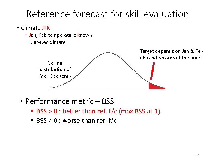Reference forecast for skill evaluation • Climate JFK • Jan, Feb temperature known •