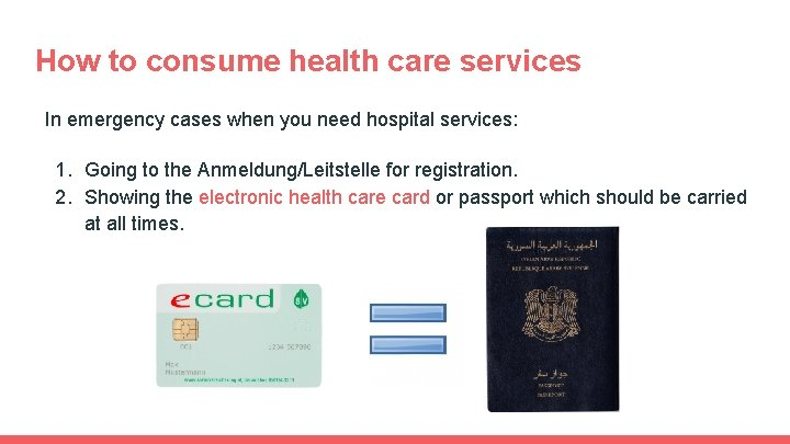 How to consume health care services In emergency cases when you need hospital services: