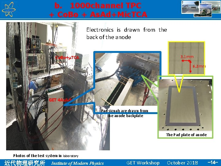 b. 1000 channel TPC + Co. Bo + As. Ad+Mic. TCA Electronics is drawn