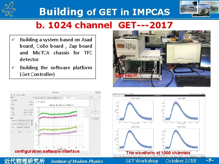 Building of GET in IMPCAS b. 1024 channel GET---2017 ü Building a system based