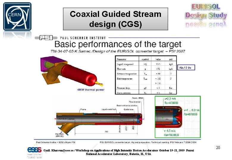 Coaxial Guided Stream design (CGS) Cyril. Kharoua@esss. se / Workshop on Applications of High