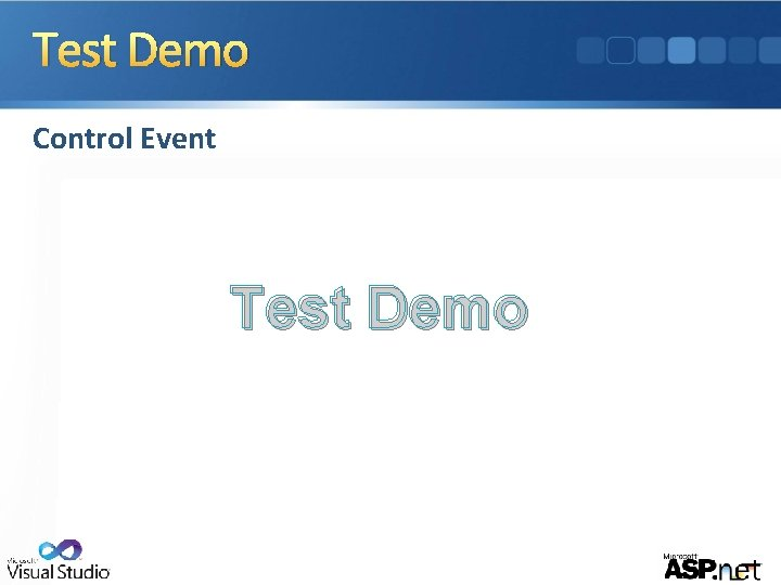 Test Demo Control Event Test Demo