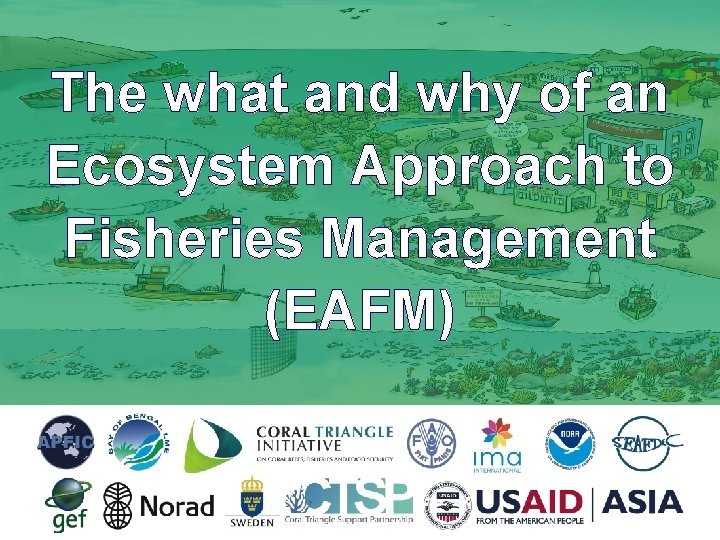 The what and why of an Ecosystem Approach to Fisheries Management (EAFM)