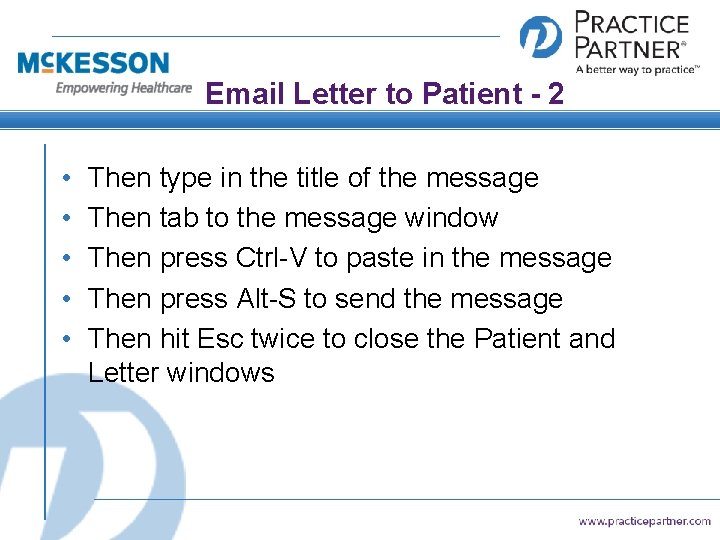 Email Letter to Patient - 2 • • • Then type in the title