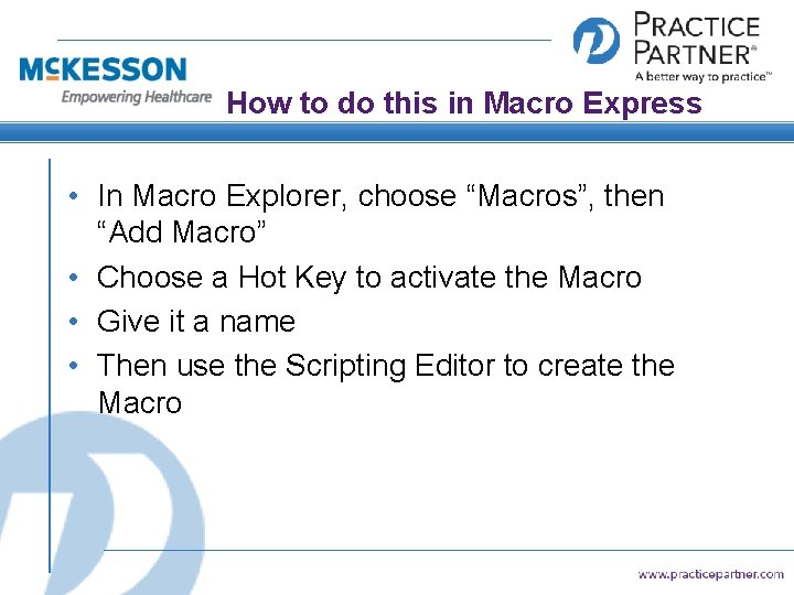 "How to do this in Macro Express • In Macro Explorer, choose ""Macros"", then"