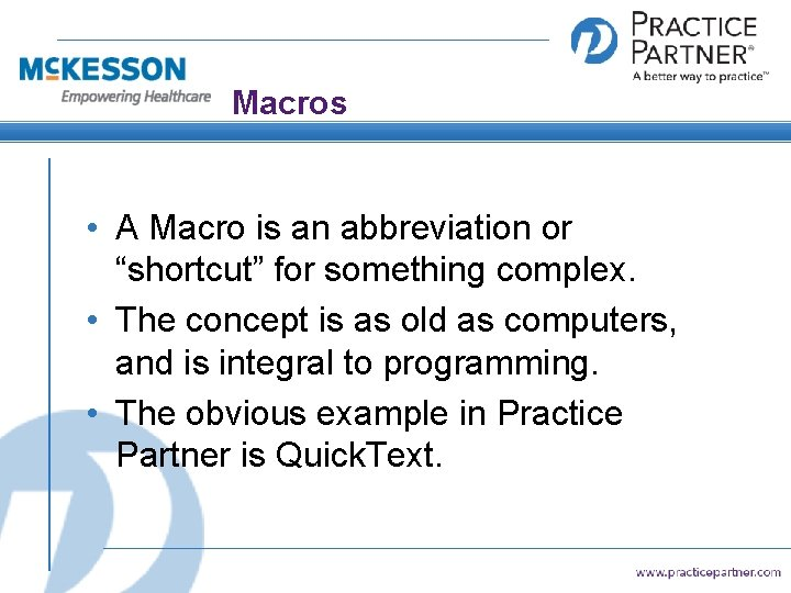 "Macros • A Macro is an abbreviation or ""shortcut"" for something complex. • The"