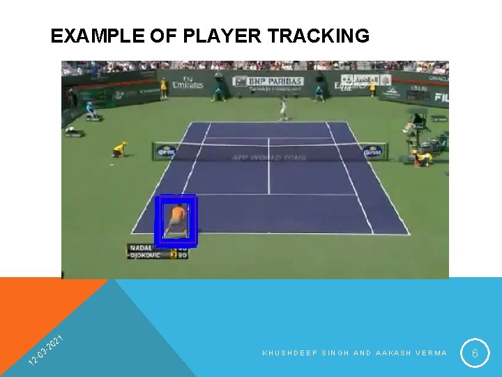 EXAMPLE OF PLAYER TRACKING 1 1 2 20 03 2 - KHUSHDEEP SINGH AND