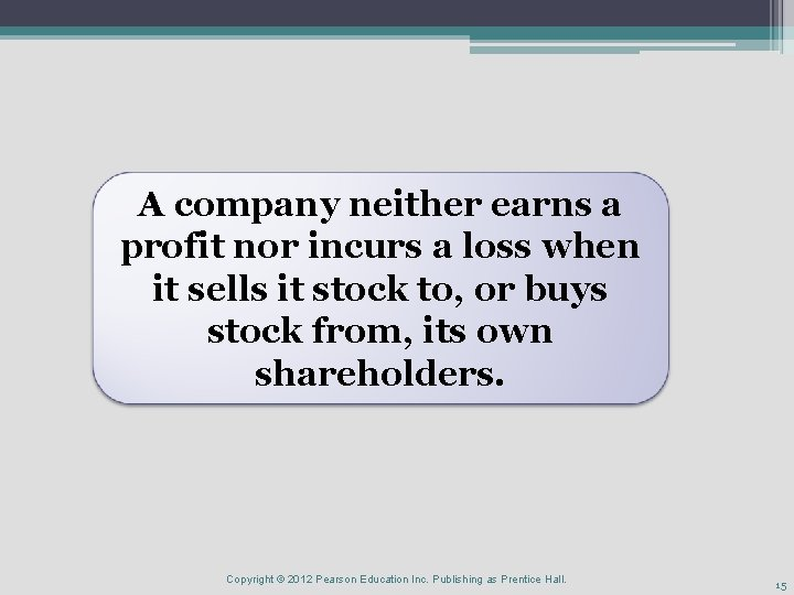 A company neither earns a profit nor incurs a loss when it sells it