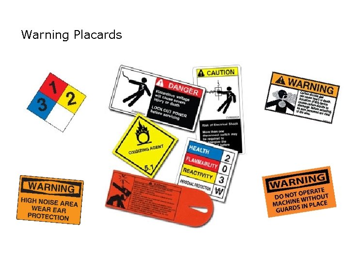 SAFETY Warning Placards