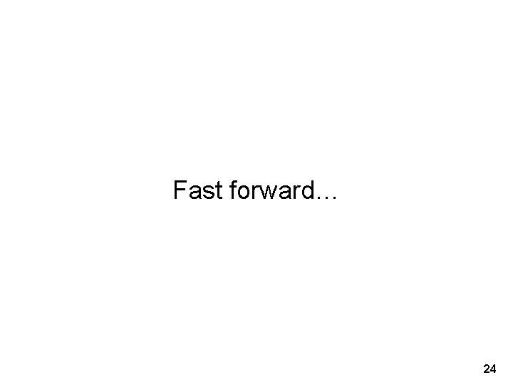 Fast forward… 24