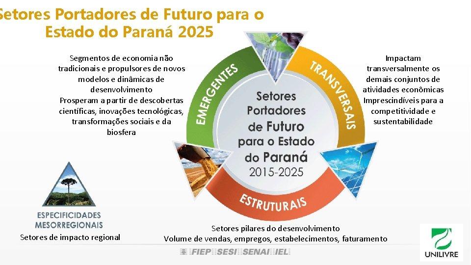 Setores Portadores de Futuro para o Estado do Paraná 2025 Segmentos de economia não