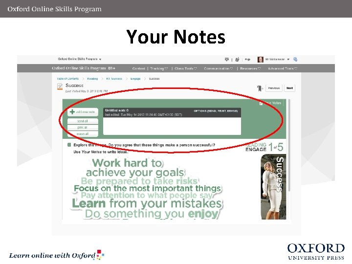 Your Notes