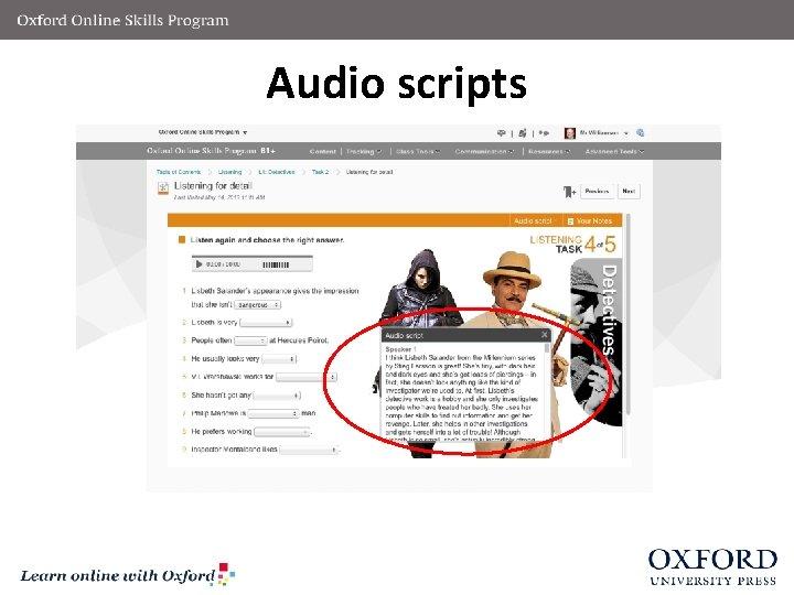 Audio scripts