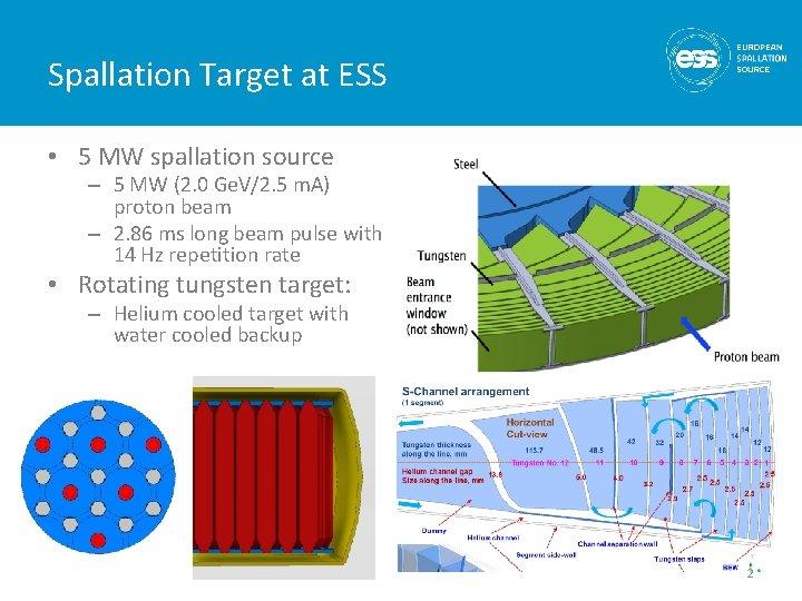 Spallation Target at ESS • 5 MW spallation source – 5 MW (2. 0
