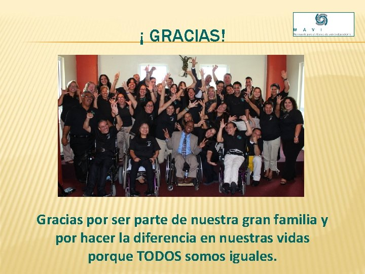¡ GRACIAS! Gracias por ser parte de nuestra gran familia y por hacer la