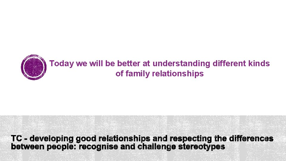 Today we will be better at understanding different kinds of family relationships