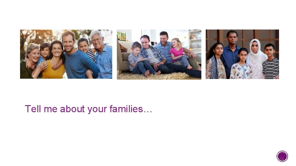 Tell me about your families…