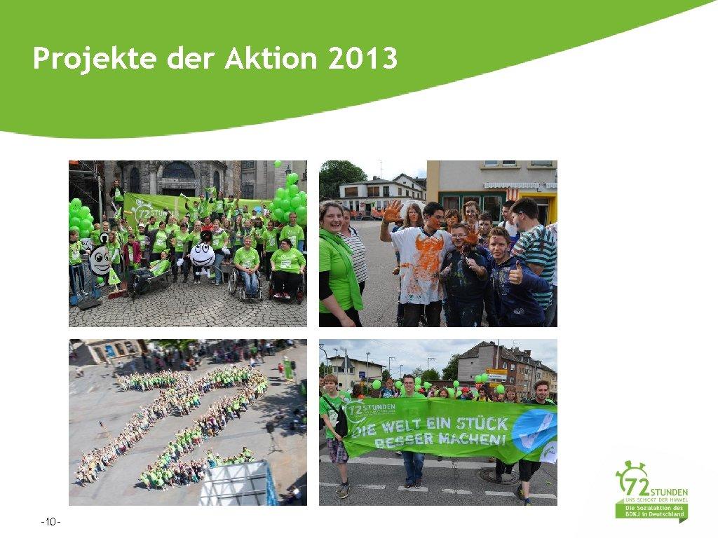 Projekte der Aktion 2013 -10 -