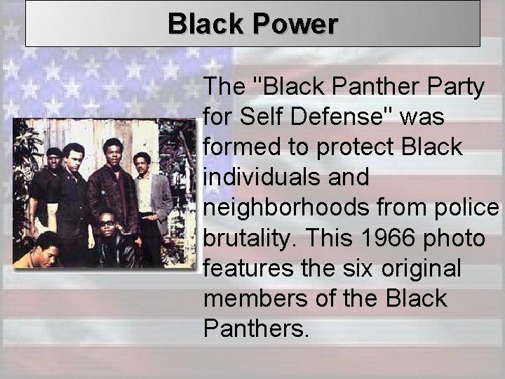 Black Power The