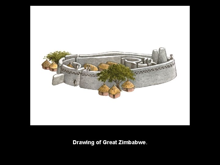 Drawing of Great Zimbabwe.
