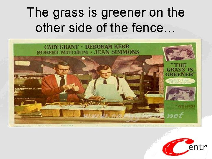 The grass is greener on the other side of the fence…