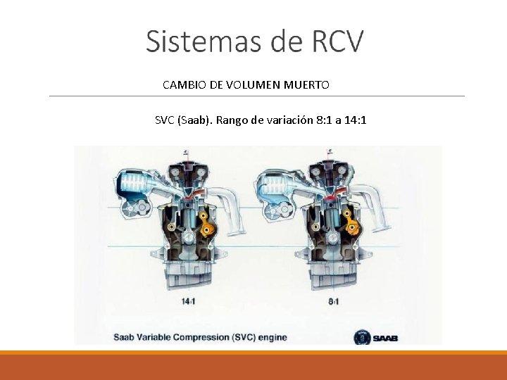 CAMBIO DE VOLUMEN MUERTO SVC (Saab). Rango de variación 8: 1 a 14:
