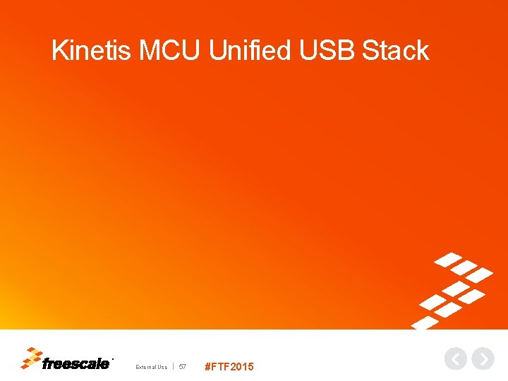 Kinetis MCU Unified USB Stack TM External Use 57 #FTF 2015