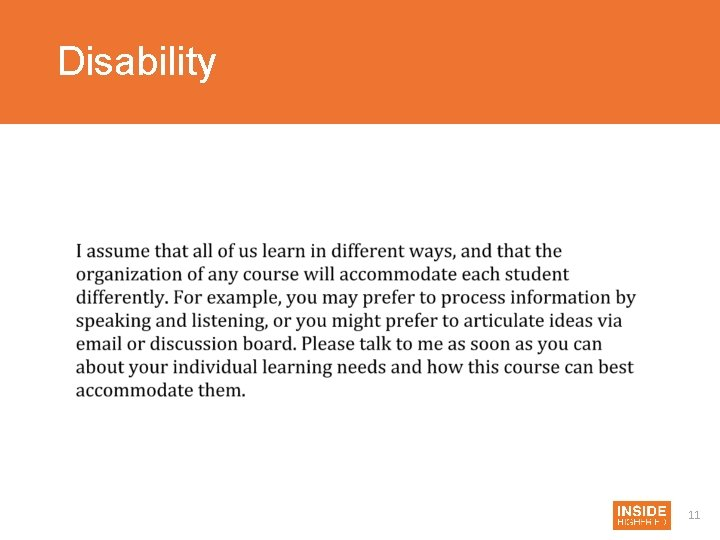 Disability 11