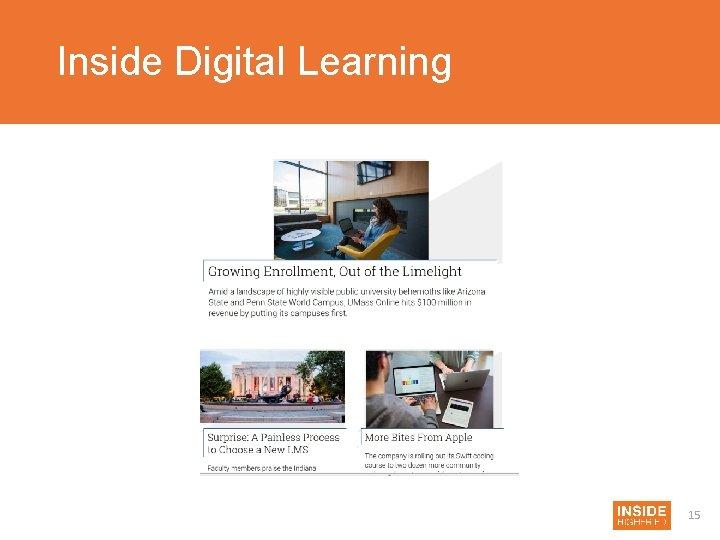 Inside Digital Learning 15