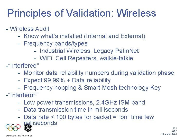 Principles of Validation: Wireless - Wireless Audit - Know what's installed (Internal and External)