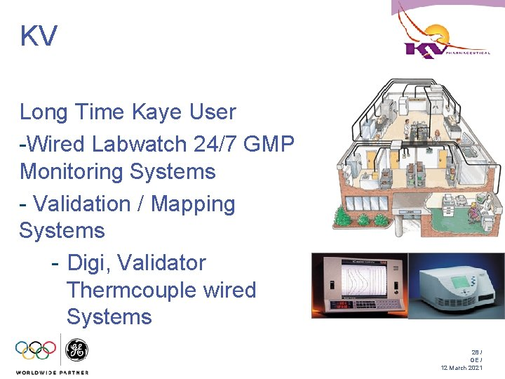 KV Long Time Kaye User -Wired Labwatch 24/7 GMP Monitoring Systems - Validation /
