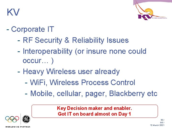 KV - Corporate IT - RF Security & Reliability Issues - Interoperability (or insure