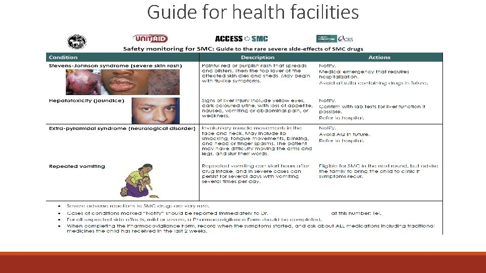 Guide for health facilities
