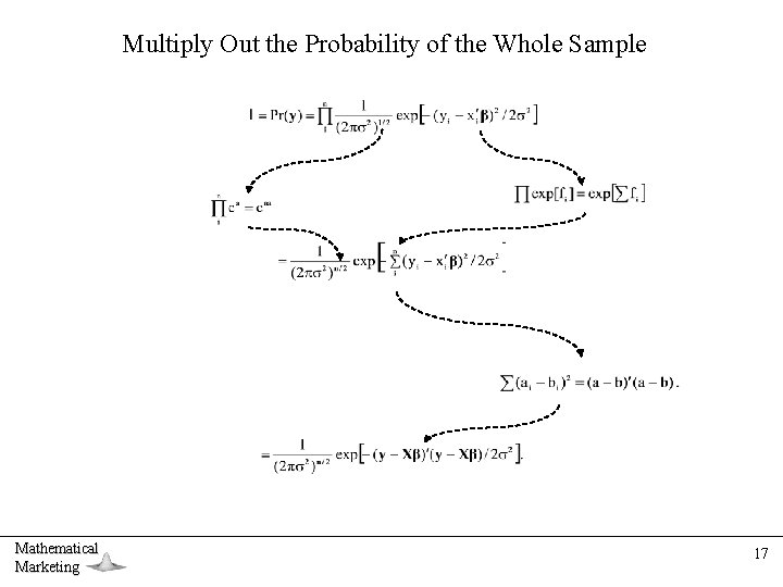 Multiply Out the Probability of the Whole Sample Mathematical Marketing 17