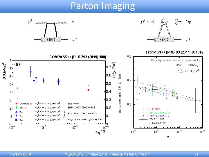 Parton Imaging gg g g Frankfurt++ [PRD 83 (2011) 054012] COMPASS++ [PLB 793 (2019)