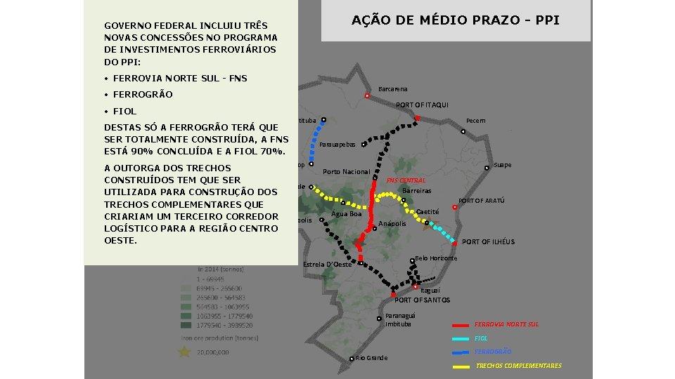 AÇÃO DE MÉDIO PRAZO - PPI GOVERNO FEDERAL INCLUIU TRÊS NOVAS CONCESSÕES NO PROGRAMA