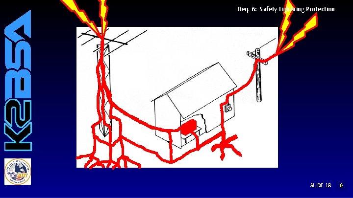 Req. 6: Safety Lightning Protection SLIDE 18 12 6 5 4 3