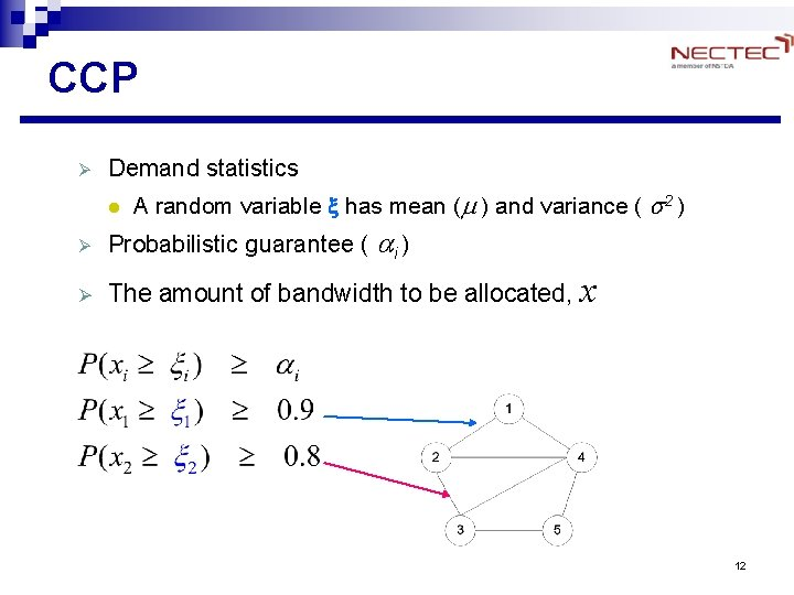 CCP Ø Demand statistics l A random variable x has mean (m ) and