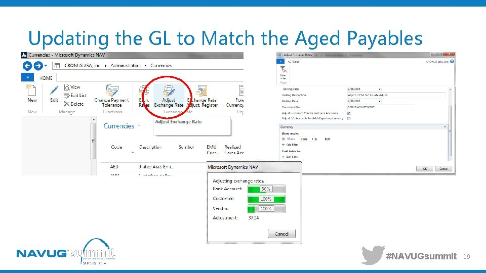 Updating the GL to Match the Aged Payables #NAVUGsummit 19