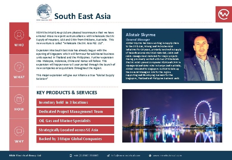 South East Asia R&M Electrical Group Ltd are pleased to announce that we have