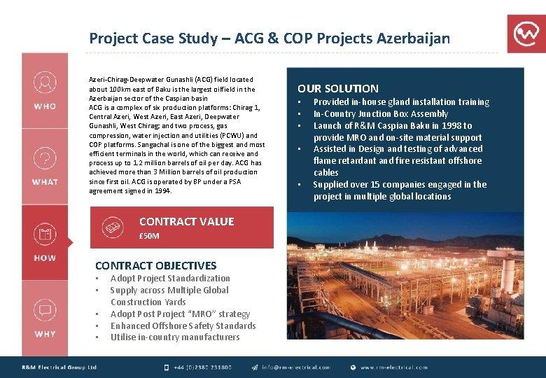Project Case Study – ACG & COP Projects Azerbaijan Azeri-Chirag-Deepwater Gunashli (ACG) field located