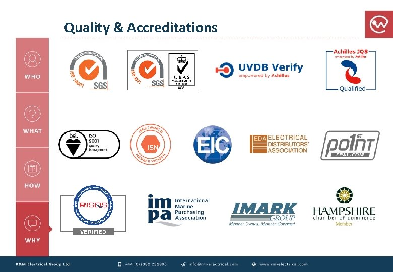 Quality & Accreditations