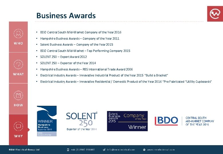 Business Awards • BDO Central South Mid-Market Company of the Year 2016 • Hampshire