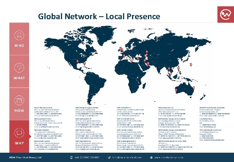 Global Network – Local Presence
