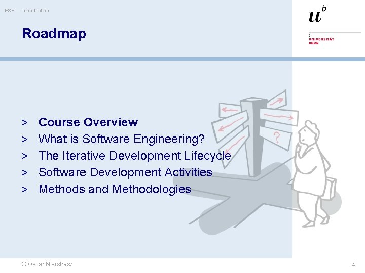ESE — Introduction Roadmap > Course Overview > What is Software Engineering? > The