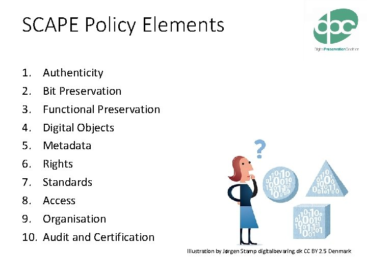 SCAPE Policy Elements 1. 2. 3. 4. 5. 6. 7. 8. 9. 10. Authenticity