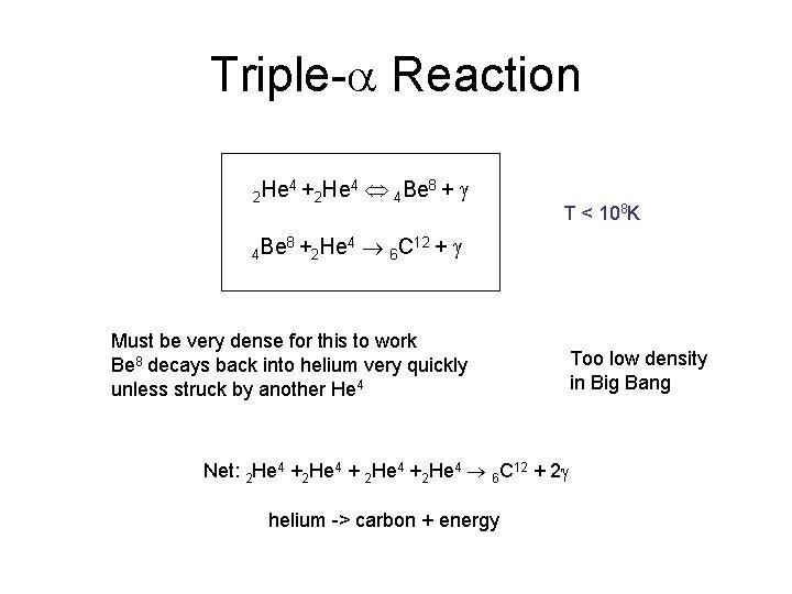 Triple-a Reaction 2 He 4 Be 4+ 8+ 2 He 4 4 4 Be