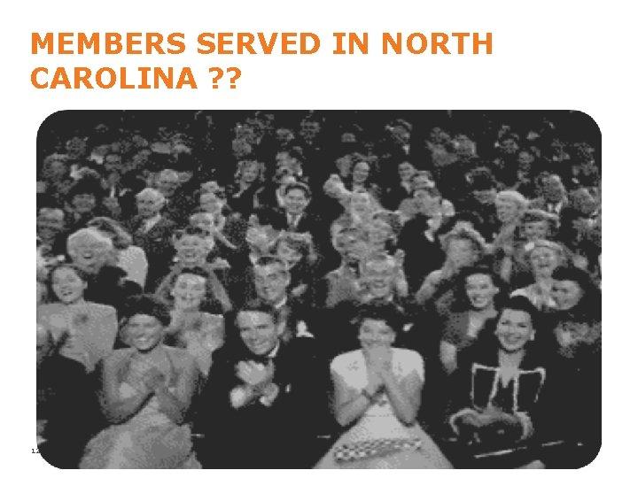 MEMBERS SERVED IN NORTH CAROLINA ? ? 12